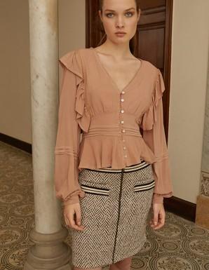Falda corta de Tweed- Nekane
