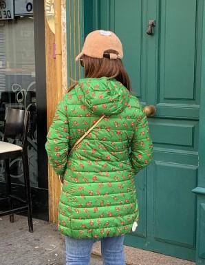 Cazadora verde larga con...