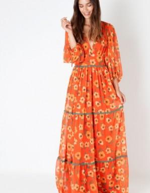 Vestido largo naranja...